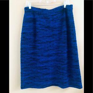 St. John Royal Blue Tweed Knit Skirt.